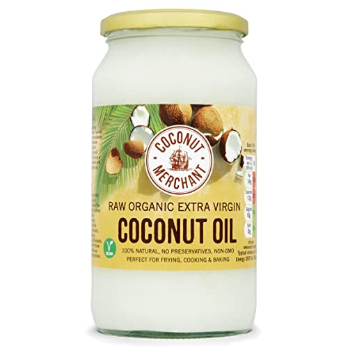 Coconut Merchant 1 Litre Organic Raw Extra Virgin Coconut Oil