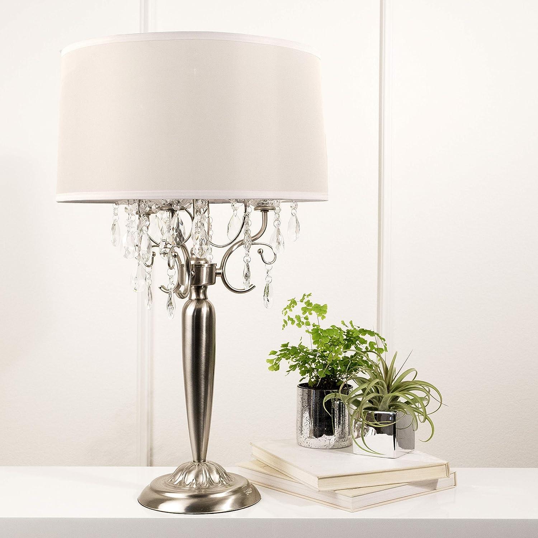 16 x 16 x 30 16 x 16 x 30 Wantech International Corp. Ok Lighting OK-5109T Crystal Silver Table Lamp