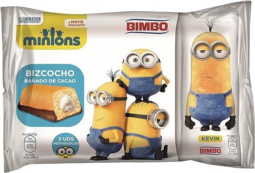 Bimbo - Minions - Bizcochos rellenos - 3 unidades - 165 g: Amazon ...