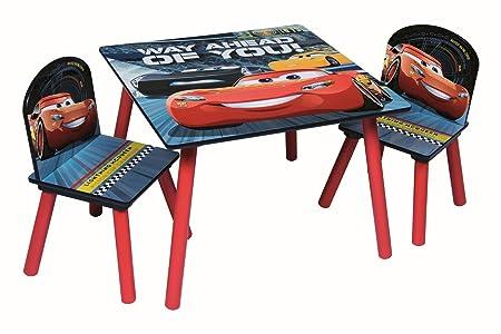 Kindertisch mit St/ühlen Rot//Schwarz Disney Cars