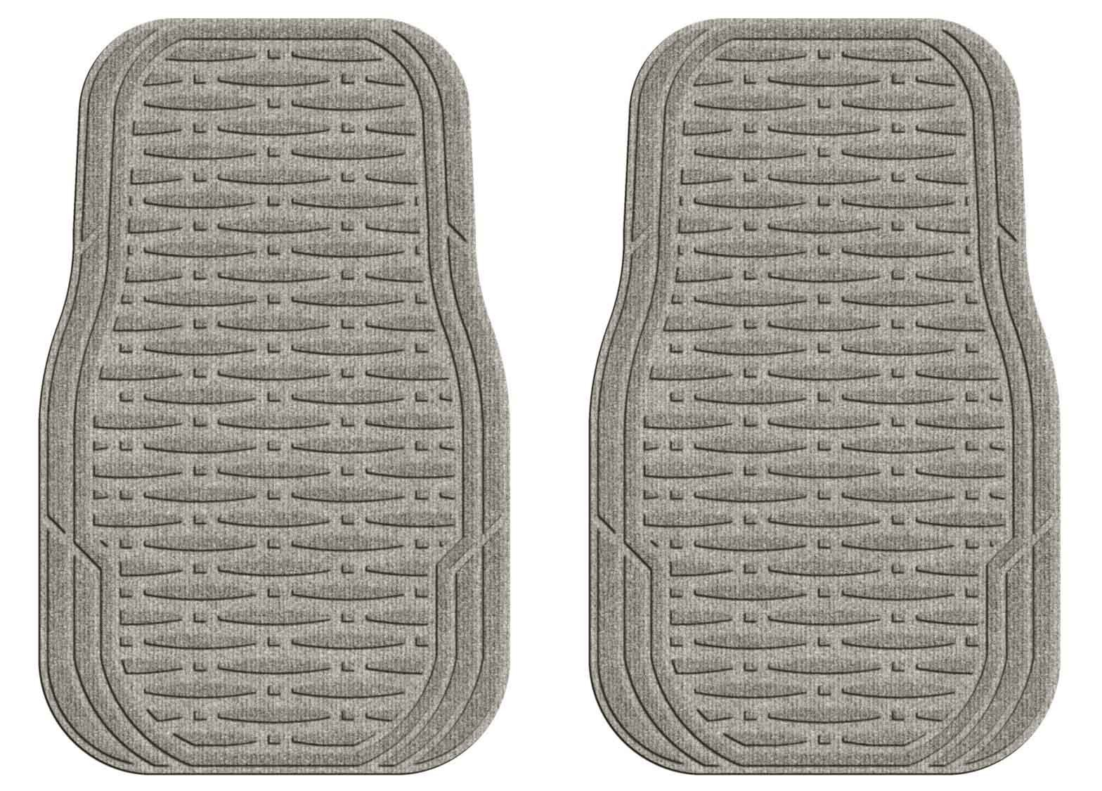 M+A Matting 3905570001 Waterhog Car Mat, Set-2, Traction, Medium, Gray Front by M+A Matting