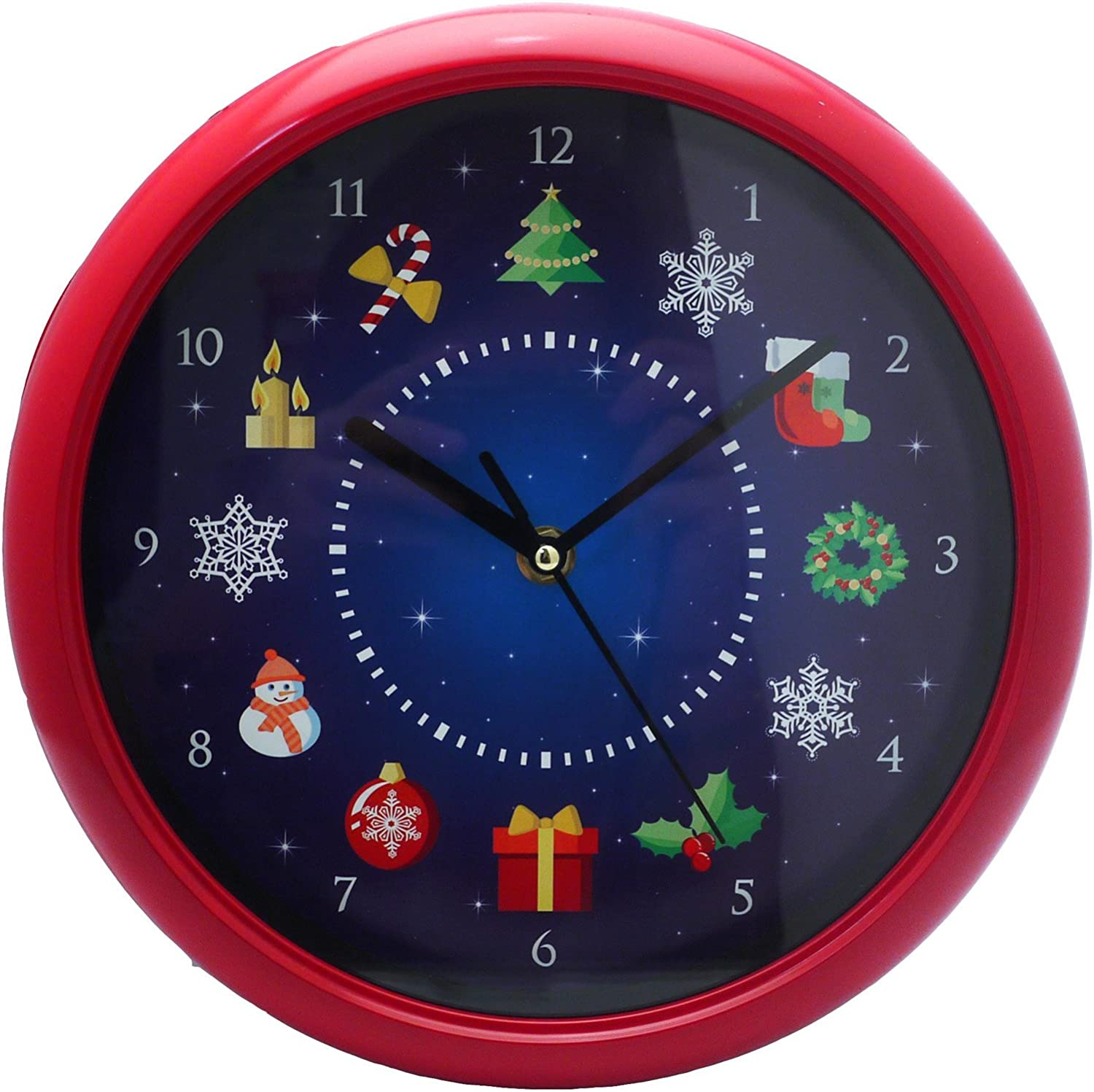 Red Pack Of 1 PMS Wall Clock in Colour Box