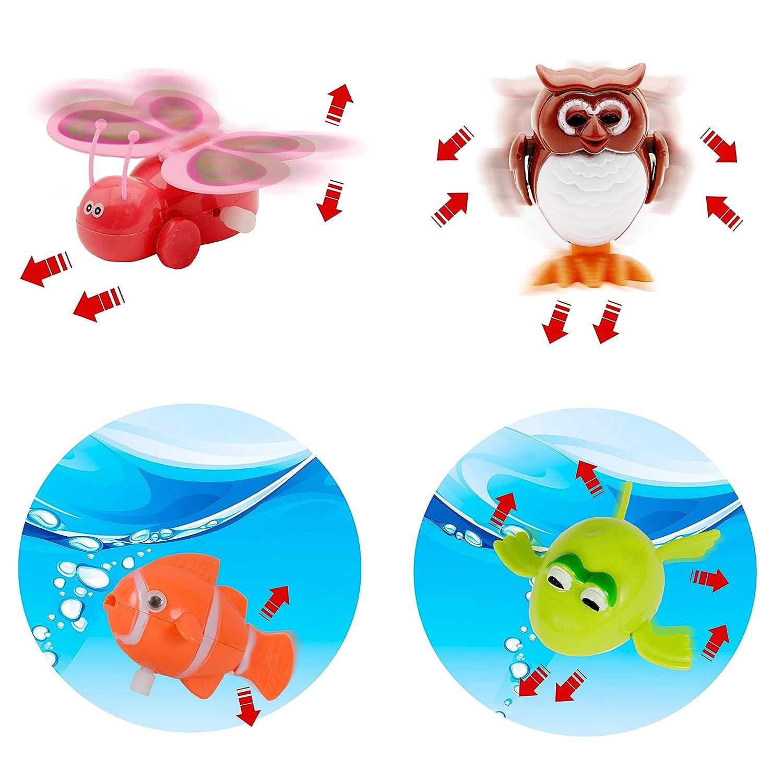Wind Up Juguetes para Fiestas Animales Regalo Ideal para Ni/ños Ni/ñas Infantiles 28 Paquetes de Juguete de Cuerda Surtida Juguete Wind Up