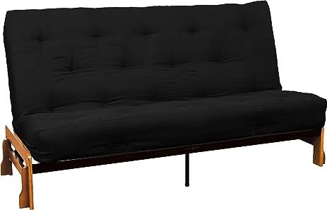 au natural 8 u0026quot  loft all cotton filled futon mattress full size microfiber amazon    au natural 8   loft all cotton filled futon mattress      rh   amazon