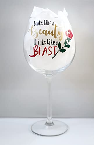Extra Large Wine Glass Beauty And The Beast Inspired Ideal Gift