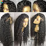 GAMAY HAIR Lace Front Human Hair Wigs for Black Women Curly Hair Brazilian Virgin Hair Wigs 130%-180% Density Full Lace Human Hair Wigs with Baby Hair(16inch with 150% densuity)