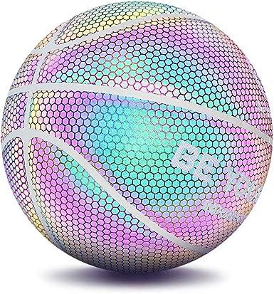Luminous Basketball Night Glowing Rainbow Light Basketball Boys Training Ball