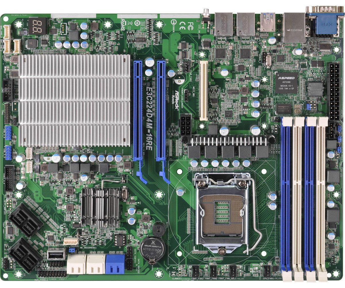 ASRock Rack Motherboard E3C224D4M-16RE