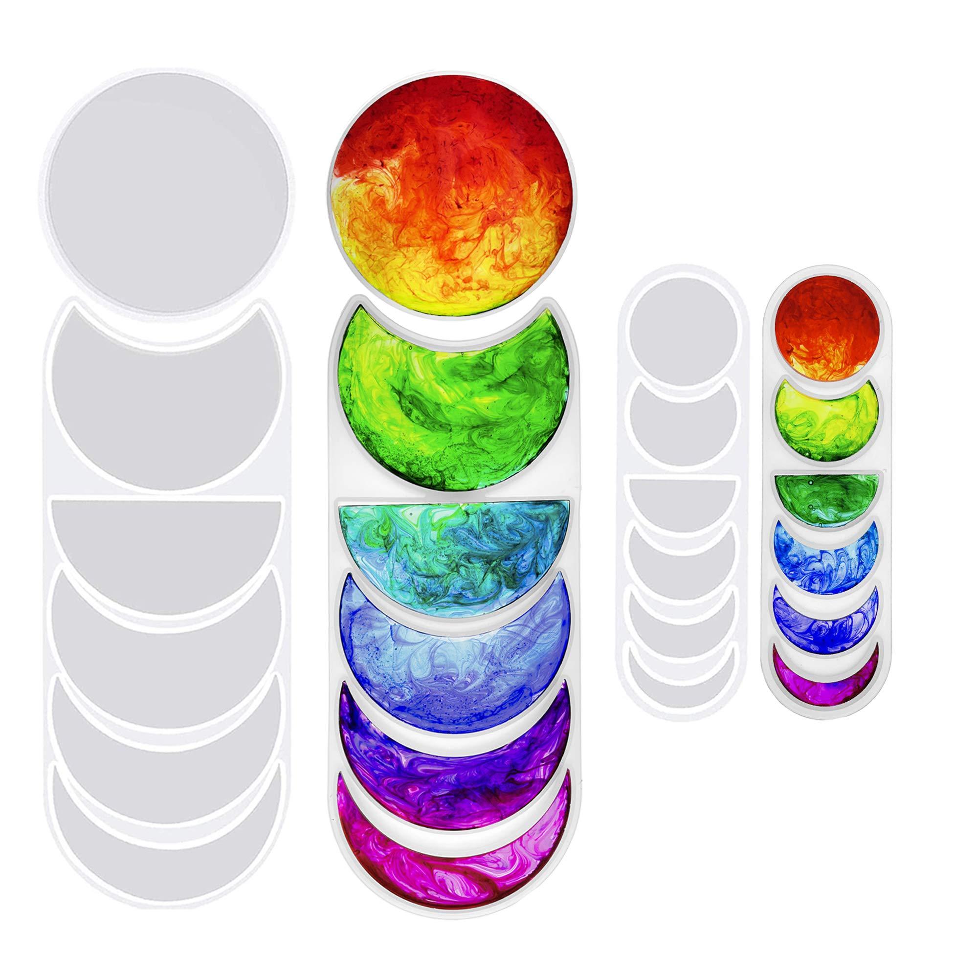 Moldes de silicona para resina, fase lunar (2 tamaños)