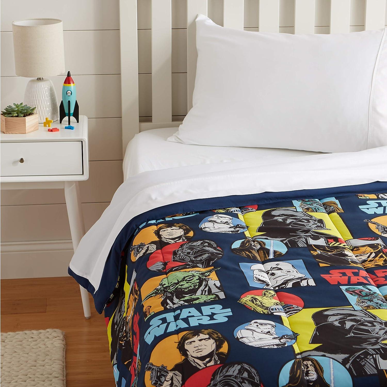 AmazonBasics Star Wars Galactic Grid Comforter, Twin