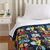 Amazon Basics Star Wars Galactic Grid Comforter, Twin