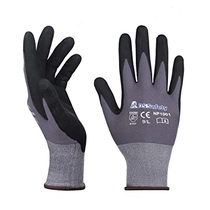 f21efdc84a DS Safety NP1001 Nylon Knit Work Gloves with Micro Foam Technology ...
