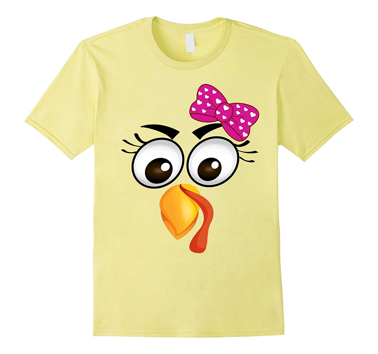 89a4f20b Turkey Face Girl Pink Bow T Shirt-ANZ ⋆ Anztshirt