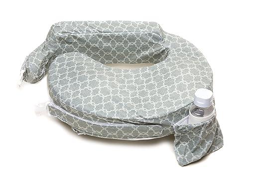 My Brest Friend Deluxe Nursing Pillow, Flower Key, Grey