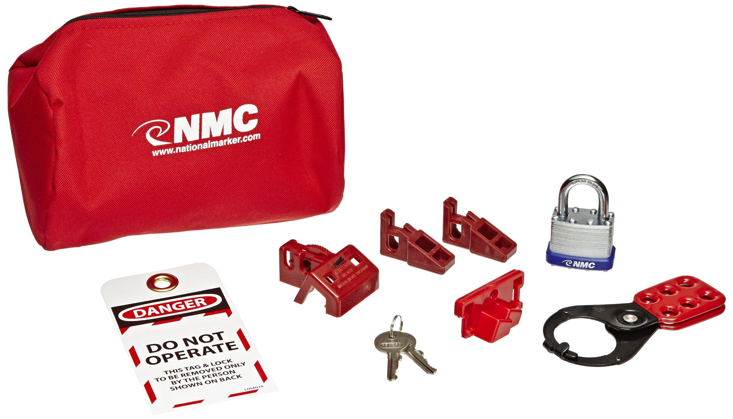 NMC BLOK4 12 Piece Economy Lockout Pouch Kit