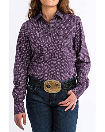 f2b5f158f5b Cinch Women s Paisley Print Snap Front Long Sleeve Western Shirt -  Msw9200032 at Amazon Women s Clothing store
