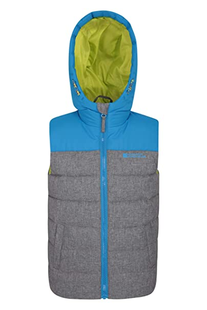 eed384d8b Mountain Warehouse Rocko Kids Textured Padded Gilet - Microfibre ...