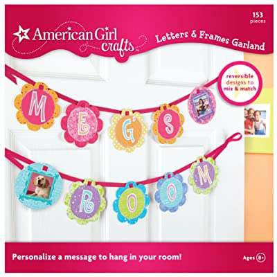 American Girl Crafts Bedroom Personalized Banner Decoration for Girls, 153pc: Arts, Crafts & Sewing