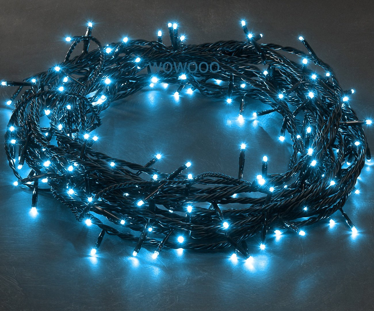120x Micro LED LIGHT BLUE fairy lights, 8.3m, Christmas Festive ...