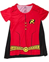DC Comics Robin Sublimated Kostüm Junioren Rot T-Shirt with Cape