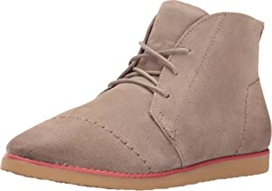TOMS Women's Mateo Chukka Bootie Desert Taupe Burnished Suede Boot 6 B (M)