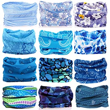 KALILY 12PCS Headband Bandana - Versatile Sports   Casual Headwear -Multifunctional  Seamless Neck Gaiter 8eb7039d8aa8