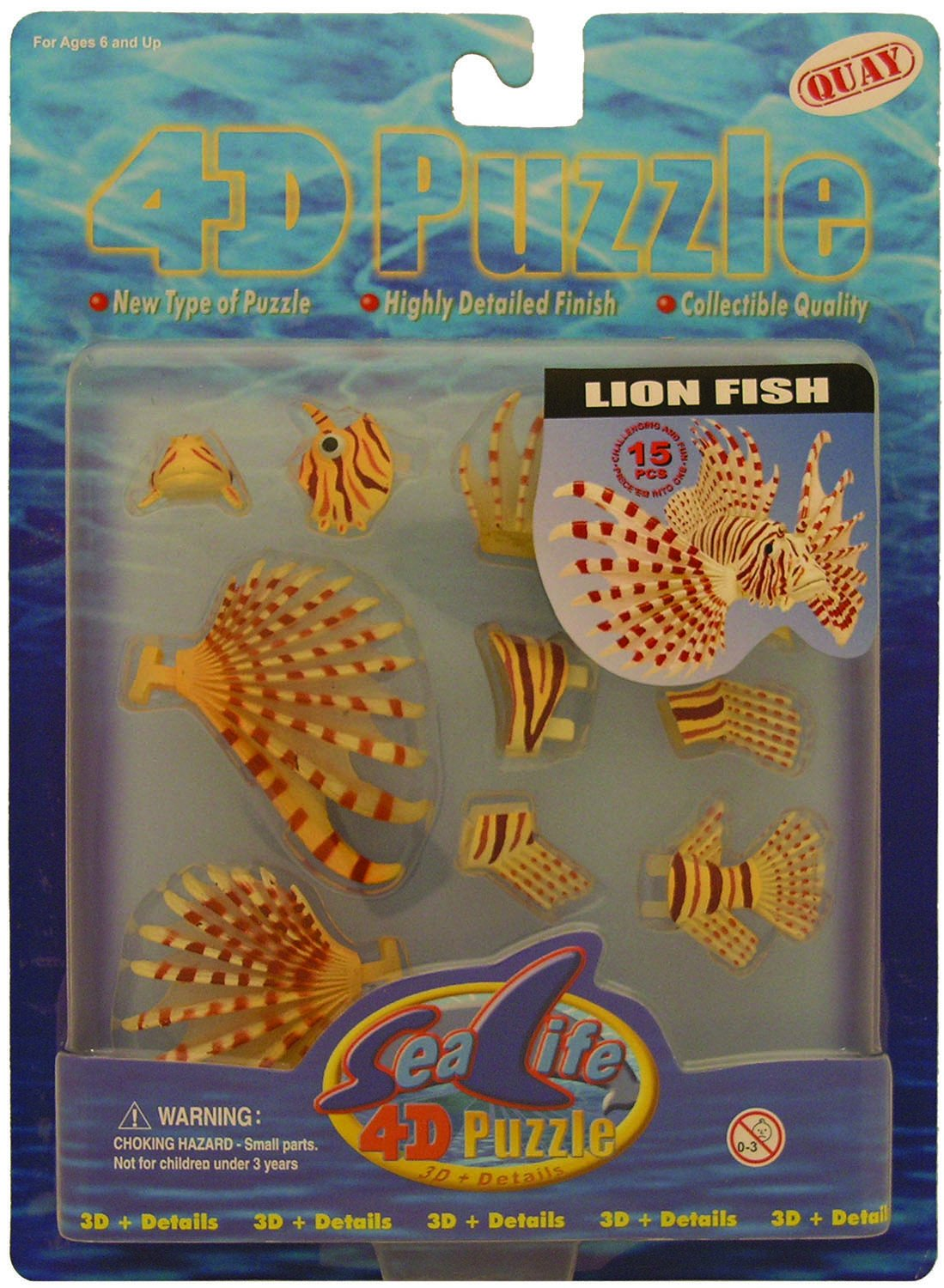 Quay Lion Fish- 4D Puzzle: Amazon.co.uk: Toys & Games
