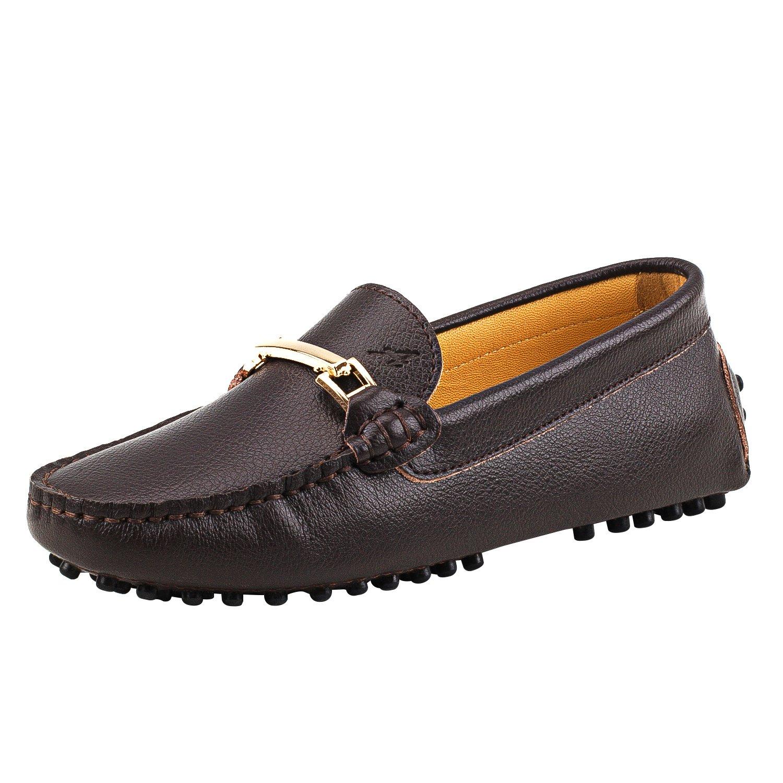 Shenduo Classic, B01LZ3DYE1 Mocassins Femme Cuir - Chaussures Loafers Multicolore - Café Chaussures Bateau & de Ville Confort D7067 Café 54e946c - automaticcouplings.space