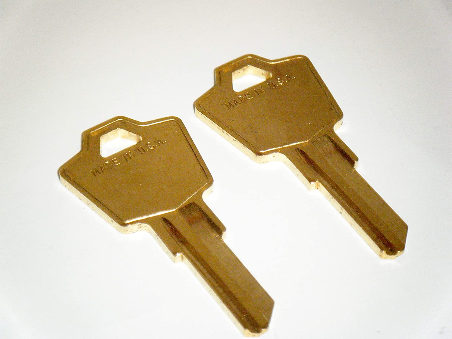 Replacement Keys for HON File Cabinets Cut from 101E to 150E Two ILCO Keys Cut to Lock Number Office Max Office Depot Allsteel (107E)