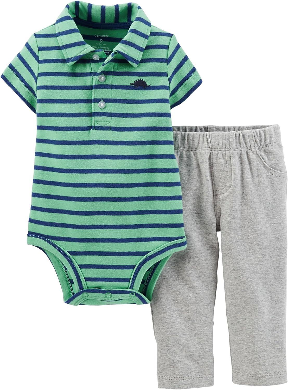 Baby Boys Blue Denim Look Mock Polo T-Shirt Shorts Bodysuit Romper Outfit NEW