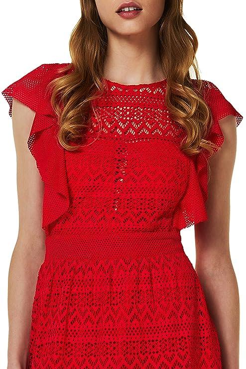 Liu Jo Jeans LIUJO abito corto Pop Attitude variante 81662 colore Flame red  Primavera-Estate 2018 (40)  Amazon.it  Abbigliamento 55c9665ff59