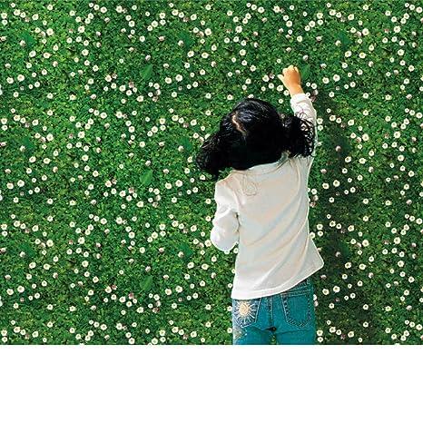 bovake DIY Simulación Césped Flores Medio Ambiente Disposición de TV Fondo Pared Decoración entfernbare Pegatinas de