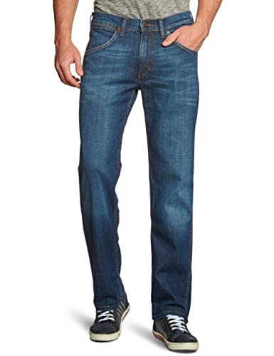 Wrangler - Jeans straight, Uomo, Blu (Blau (Night Break 37W), 44/46 IT (31W/34L)