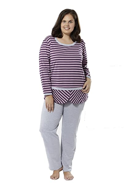 Pijama manga larga (talla 50) Tallas Grandes Mabel big&beauty