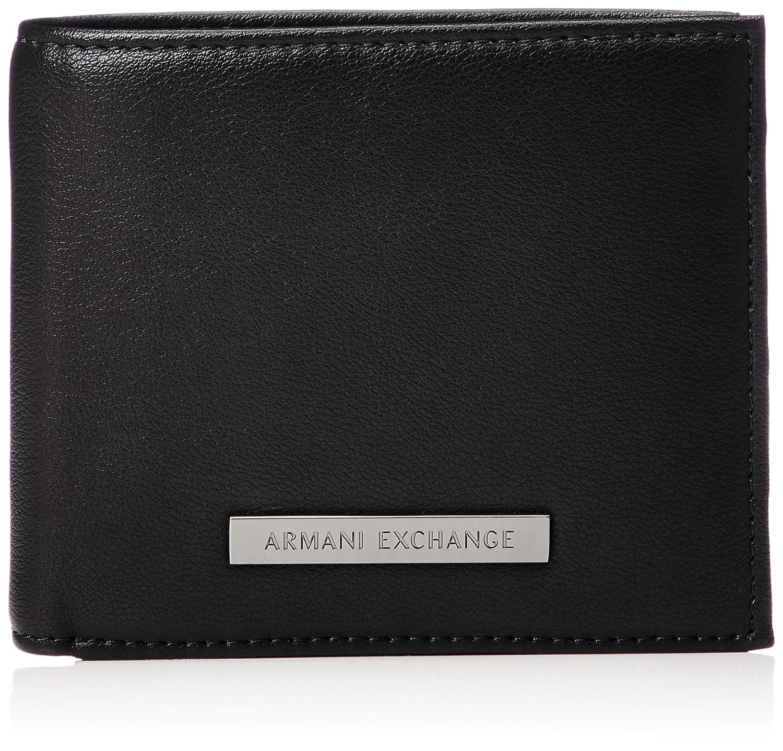 A|X Armani Exchange Men's Trifold Detachable Card Black/Navy ONE Size 9581008A204