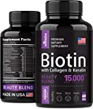 Biotin, Keratin & Collagen Pills - Marine Collagen & Biotin Vitamins for Hair, Skin, and Nails - Made in The USA…