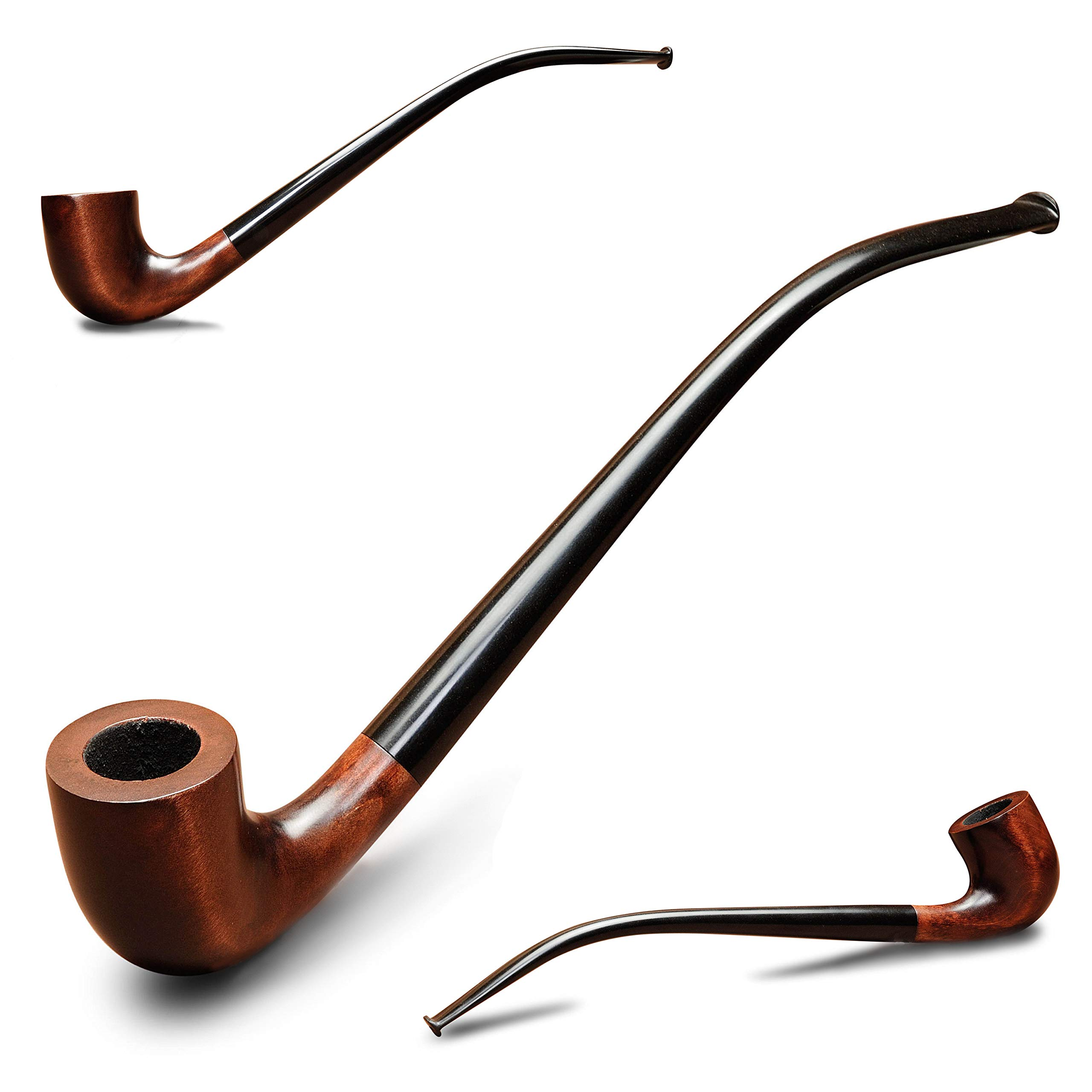 Churchwarden Smoking pipe KAF233 Long 9.5'' Gandalf style Wooden tobacco pipe from Lord of the Rings handmade by KAFpipeWorkshop