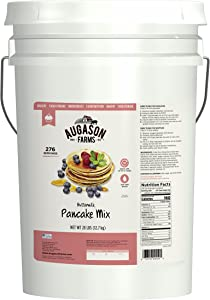 Augason Farms Buttermilk Pancake Mix Emergency Food Storage 28 Pound Pail
