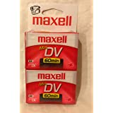 MAXELL 298012 Mini Digital Video Tapes (60 min, 2 pk)