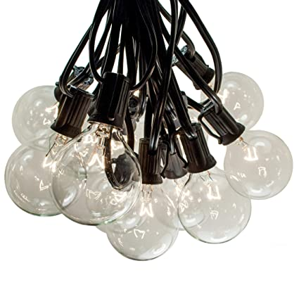100 Foot Outdoor String Lights - 105 G50 Clear 2u0026quot; Bulbs (5 Extra)  sc 1 st  Amazon.com & 100 Foot Outdoor String Lights - 105 G50 Clear 2