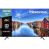 Hisense 75-Inch Class H6570G 4K Ultra HD Android Smart TV with Alexa Compatibility (75H6570G, 2020 Model)