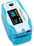 Acc U Rate® children digital fingertip pulse oximeter blood oxygen saturation monitor with adorable animal theme (not for newborn/infant)