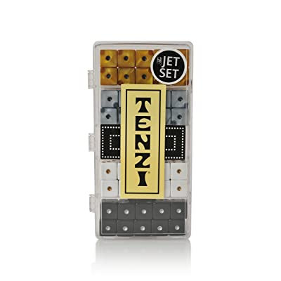 TENZI Select - The Fast-Paced Dice Rolling Game in Fun Patterns - Jet Set: Toys & Games
