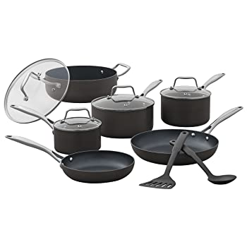 Stone & Beam 12 Pcs Hard-Anodized Cookware Set