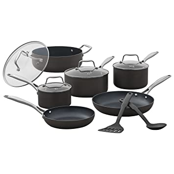 Stone Beam Kitchen Cookware Set 12 Piece Pots And Pans Hard Anodized Non Stick Aluminum