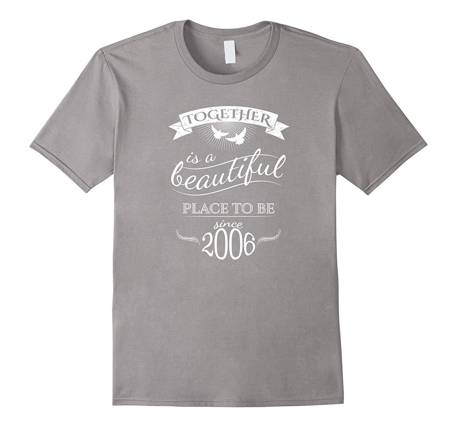 11th Wedding Anniversary T-Shirt Funny For Married In 2006 H-Rose