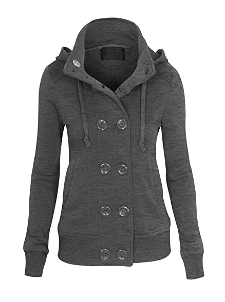 Amazon.com: Women's Double Breasted Long Sleeve Peacoat Blazer ...