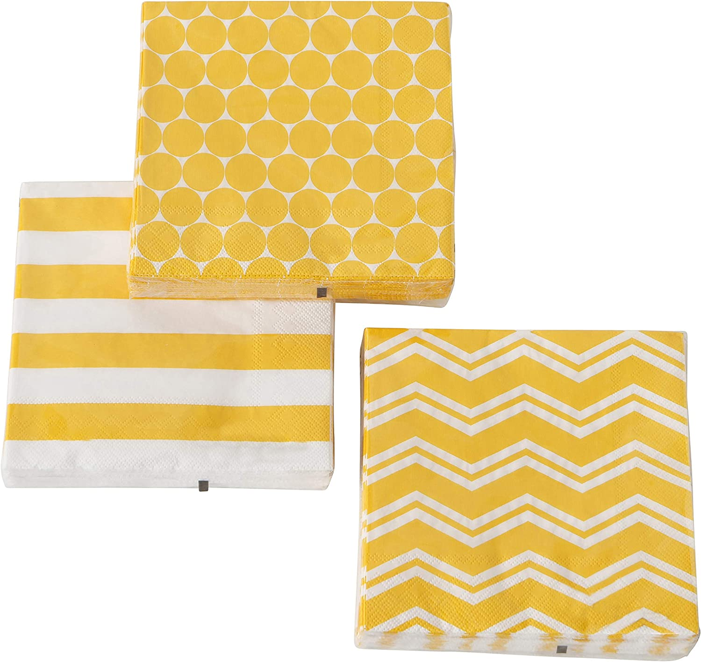 20er Pack serviettes Lierre Blanc Vert 33x33cm Papier Home Fashion