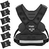 Aduro Sport Adjustable Weighted Vest Workout Equipment, 4-10lbs/11-20lbs/20-32lbs/26-46lbs Body Weight Vest for Men, Women, K