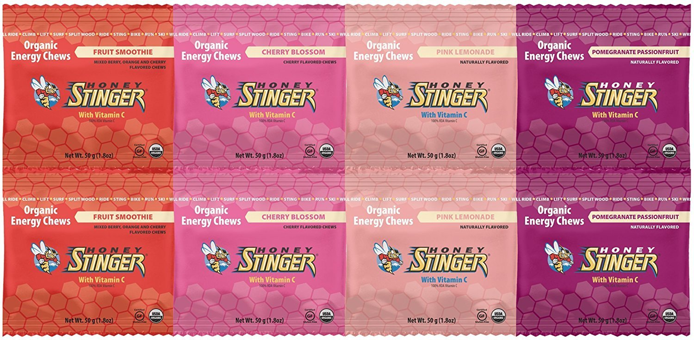 Honey Stinger Organic Energy Chews Variety Pack of 8